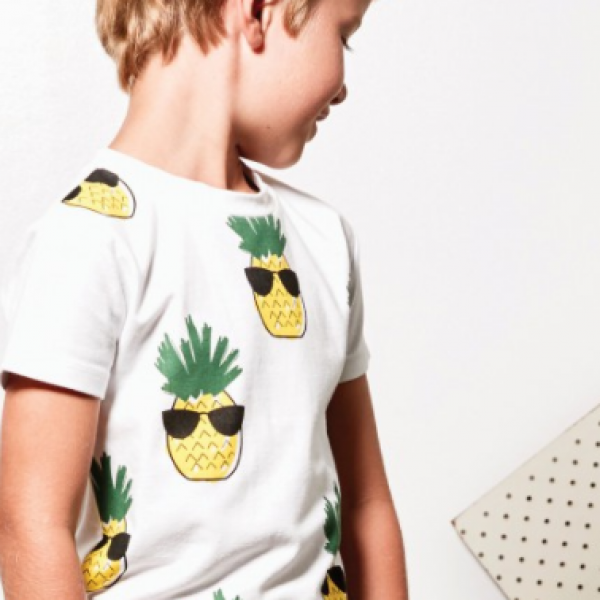 Bring on the sunshine with this Cool Pineapple Tee by Tiny Tribe!
