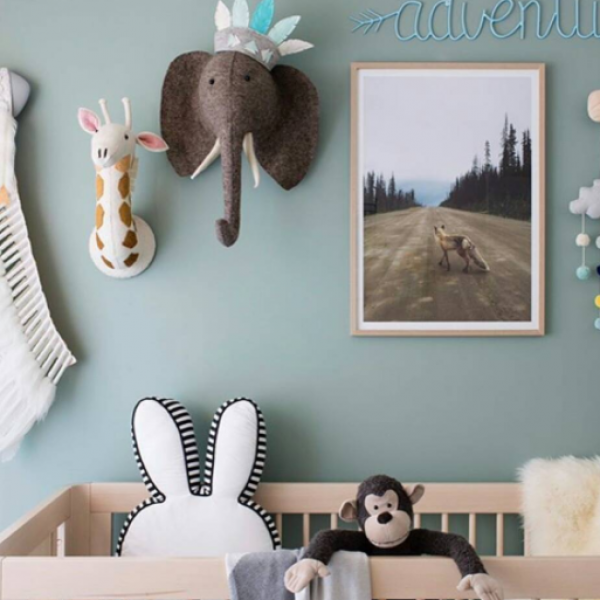 The best selling fairtrade, handmade felt Elephant Wall heads are back in stock.