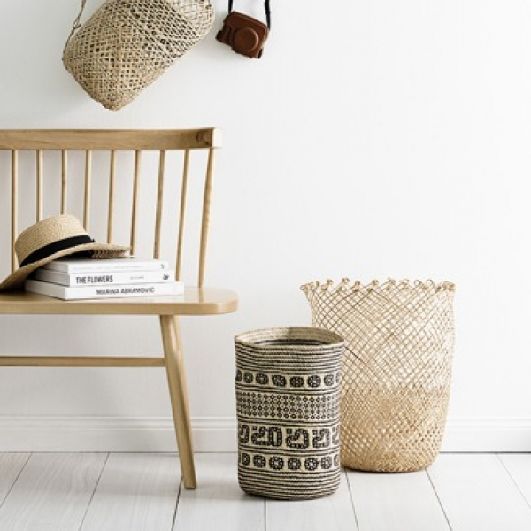 These fair trade, handmade baskets make great planters...
