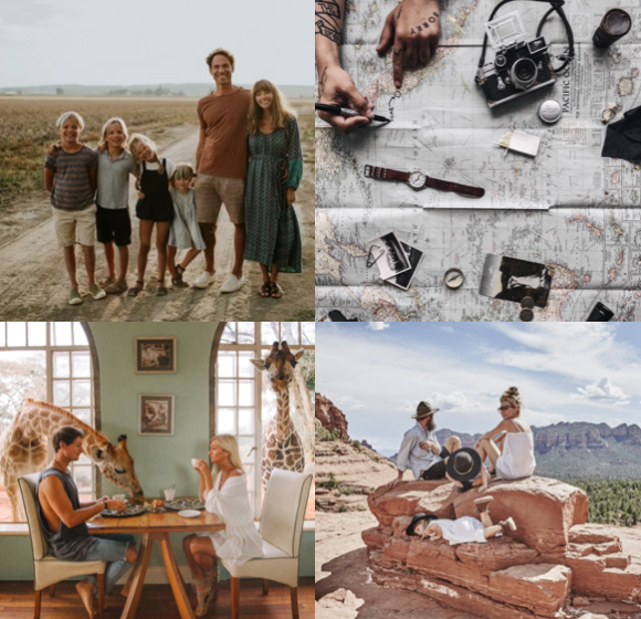 We showcase some of our fave travelling tribes and why. From a single guy to a young couple to a family of 6... travel is taking on a new realm!